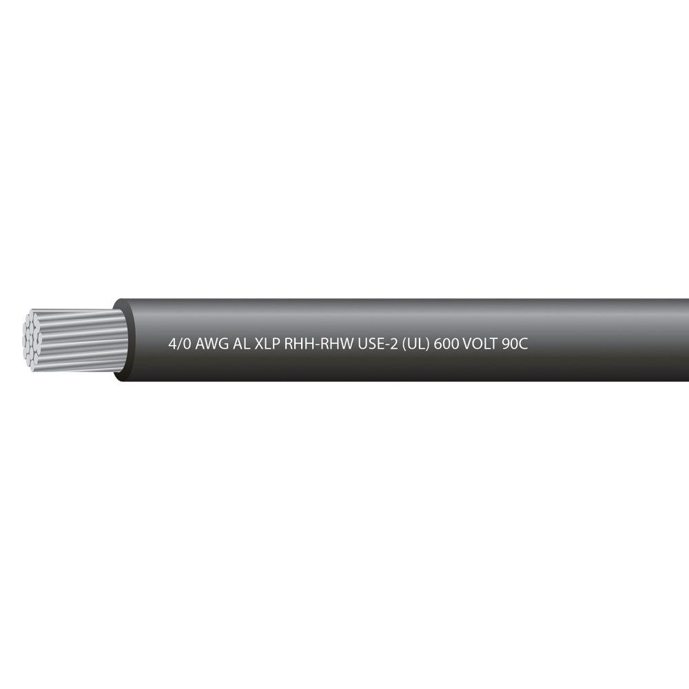 4/0 AWG ALUMINUM USE 600 VOLTS 90C