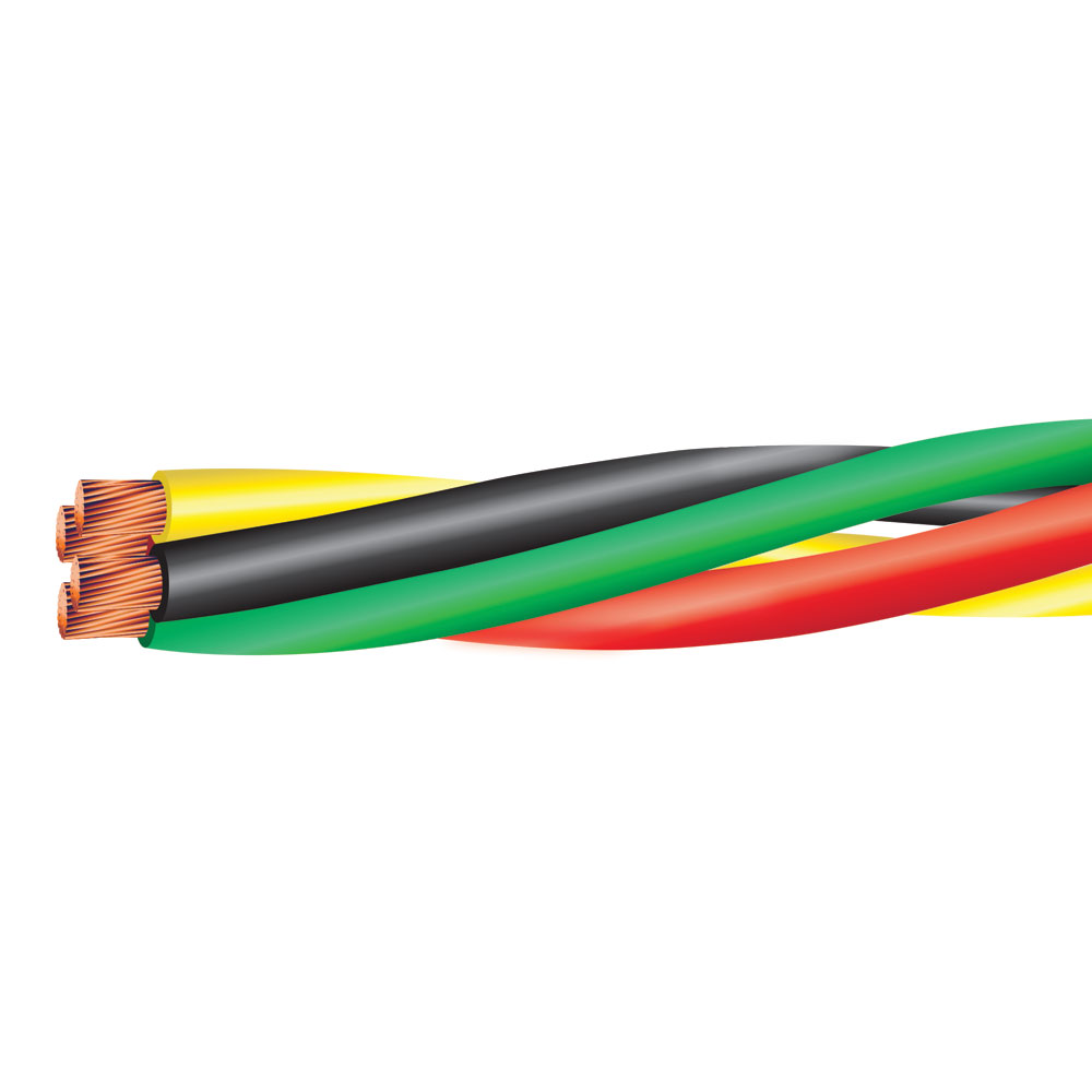 6 AWG 3 COND W/ 8 AWG GRD TWISTED PUMP CABLE 600 VOLTS