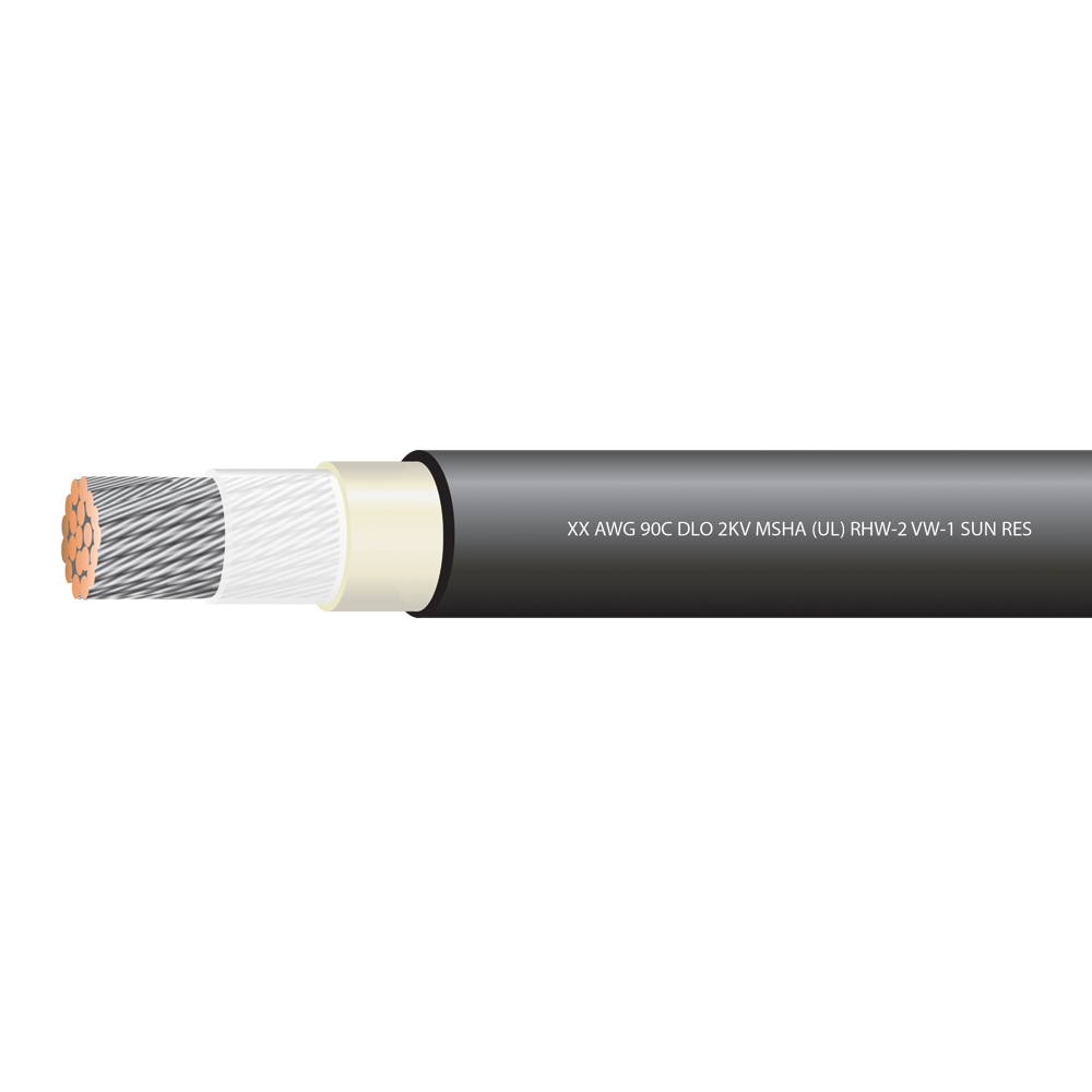 1/0  AWG TYPE DLO 2000 VOLTS