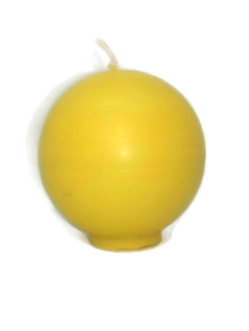 Sphere circle beeswax pillar candle