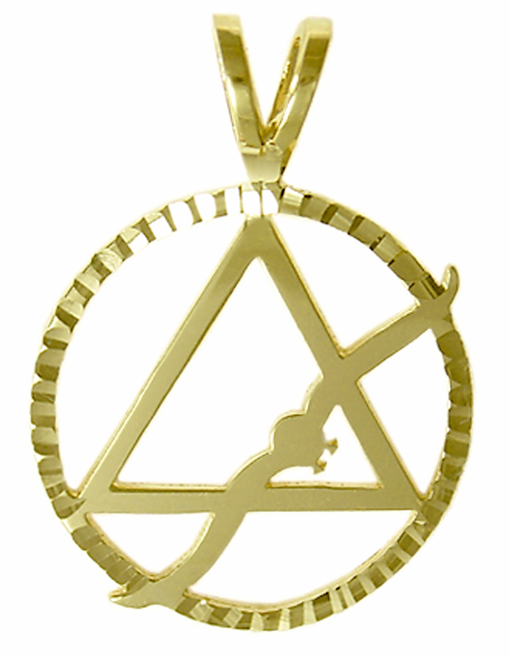Style 22 4 14k gold aa symbol pendant wflying seagull in a style 22 4 14k gold aa symbol pendant wflying seagull mozeypictures Gallery