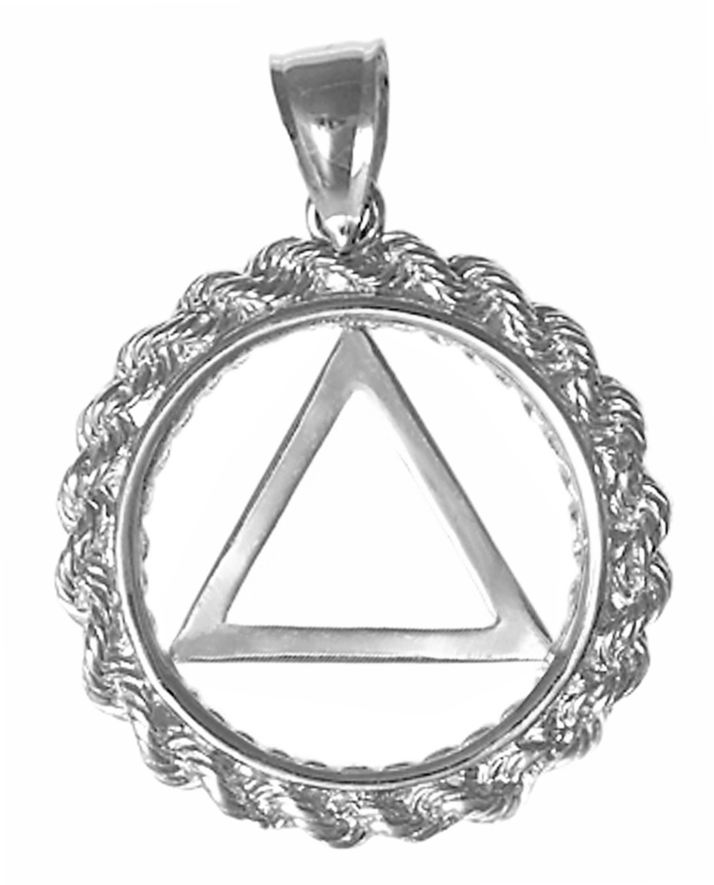 Style 579 2 Sterling Silver Pendant Aa Symbol In A Rope Style