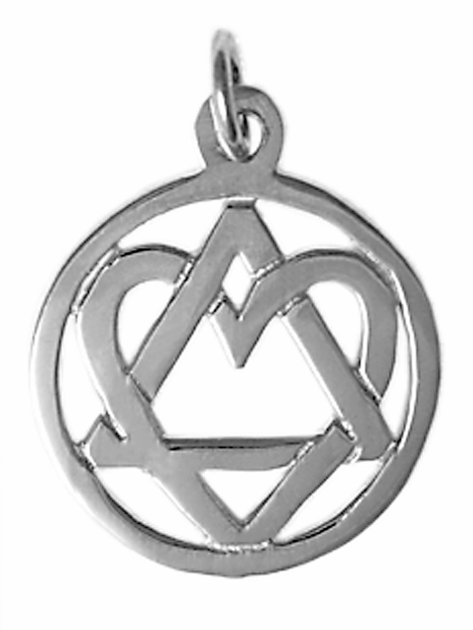 Style 19 4 Medium Size Sterling Silver Aa Symbol Pendant With A