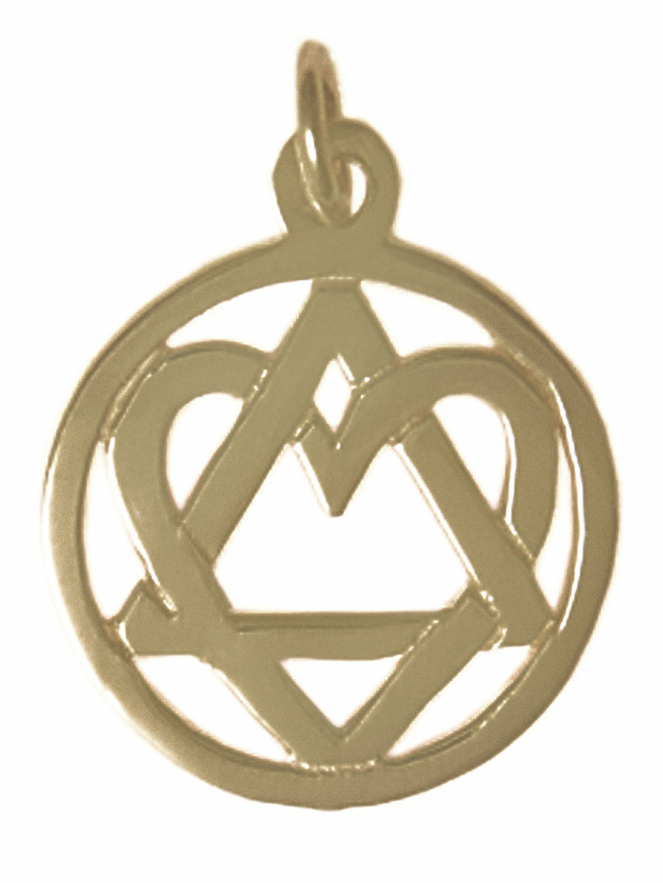 Style 19 4 brass aa symbol pendant wopen heart love service style 19 4 brass aa symbol pendant wopen heart buycottarizona Gallery