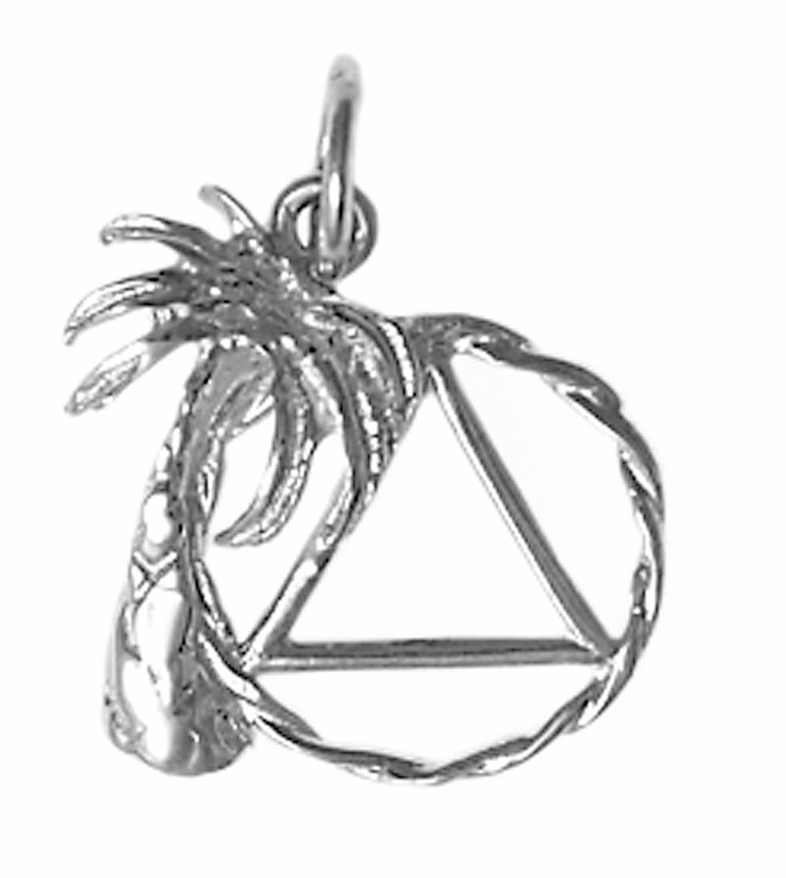 Style #807-3, Medium Size, Sterling Silver Pendant, Palm Tree with ...