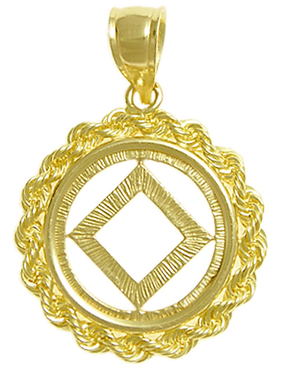Style 482 9 14k Gold Na Symbol Pendant Rope Style