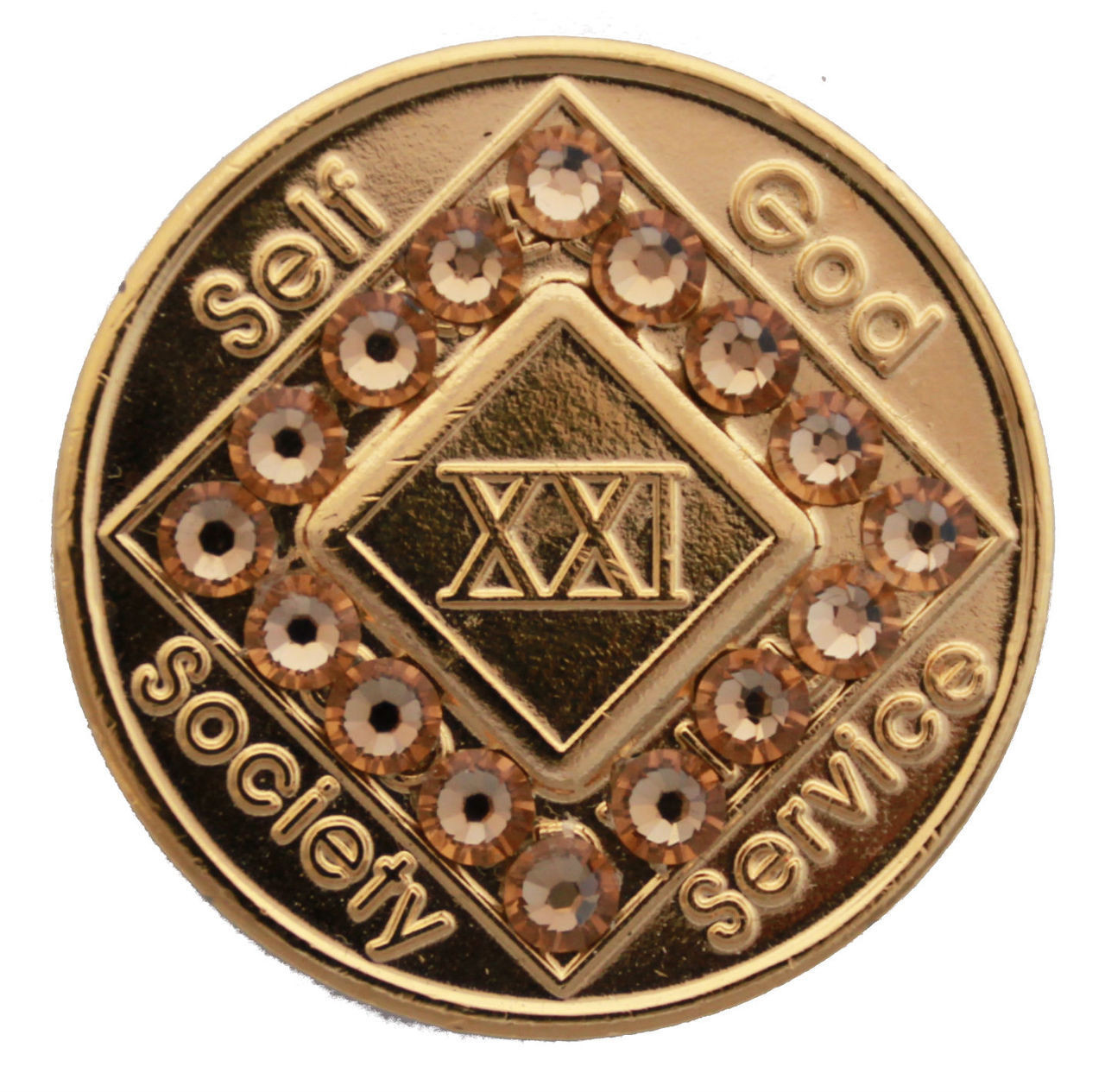 Na Gold Bling Recovery Medallion Narcotics Anonymous