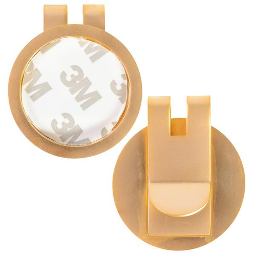 Money Clip Medallion Holder Gold MATTE Finish. Ka2