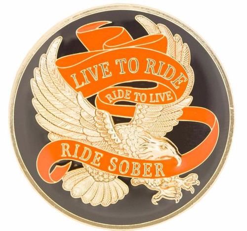 Live To Ride Medallion NEW