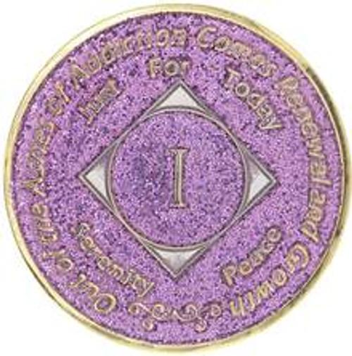 NA Glitter Lavender Medallion (Years 1-40)