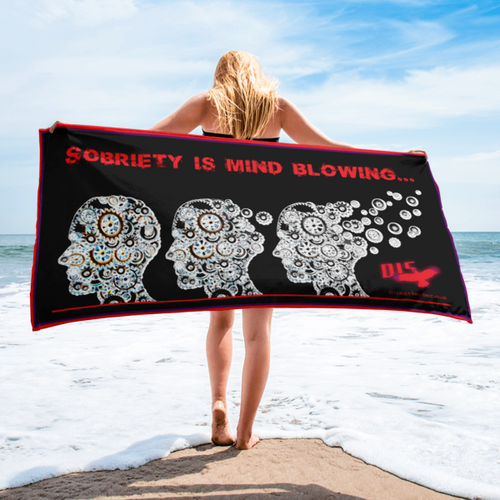 Sobriety Is Mind Blowing Summer Beach Towel - Recovery Beach Towel?!