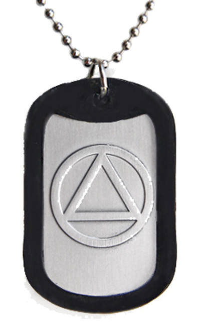 AA, Alcoholics Anonymous dog tag