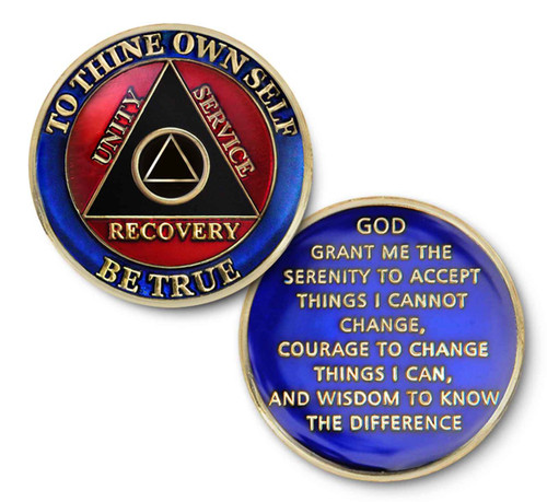To thine own self be true recovery coin - unity, service, recovery in alcoholics anonymous