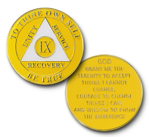 Alcoholics anonymous recovery coin, celebrate a birthday or sobriety date with a sponsor, friend or sponcee.