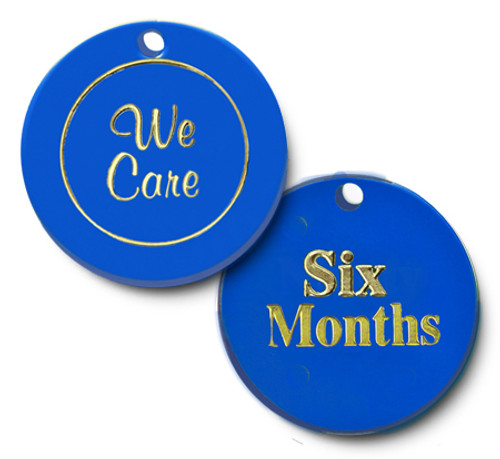 we care, six months clean and sober meeting coin