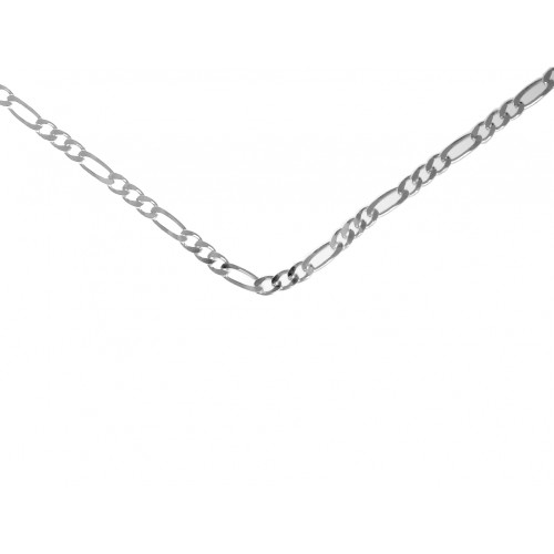 "Style #499-14, $50, 24"" Medium Figaro Chain, Sterling Silver"