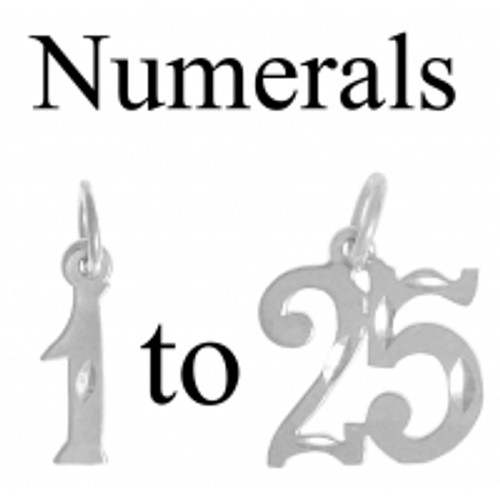 Style #237, Sterling Silver, Numerals for Celebrating All Occasions; Anniversary, Birthdays