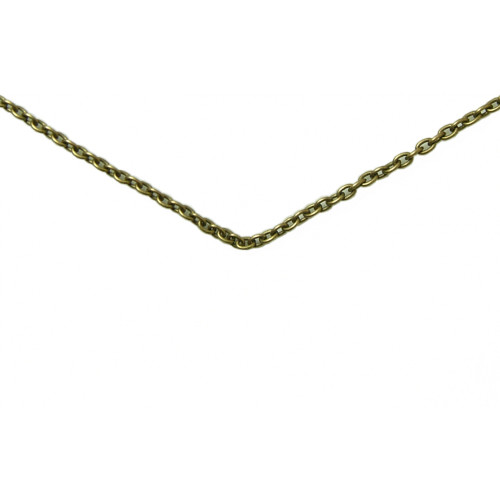 "Brass link chain 24"". Perfect with your new aa or na skull!"
