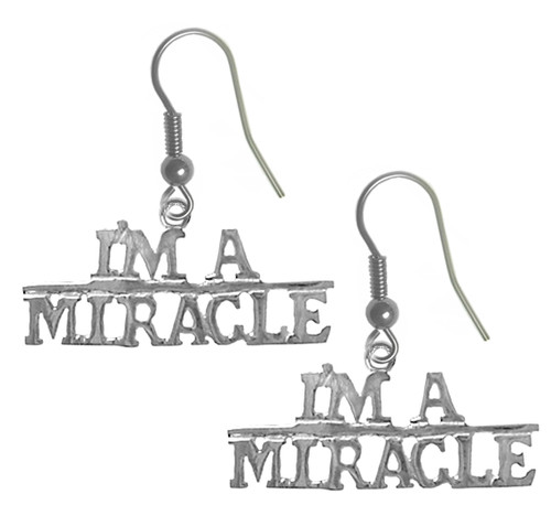 recovery earrings I'm a miracle in my sobriety!