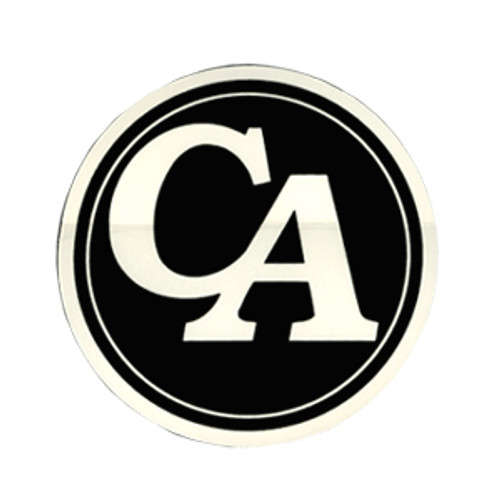 "#RS8, 3"" Round ""CA"" Initial Recovery Sticker"