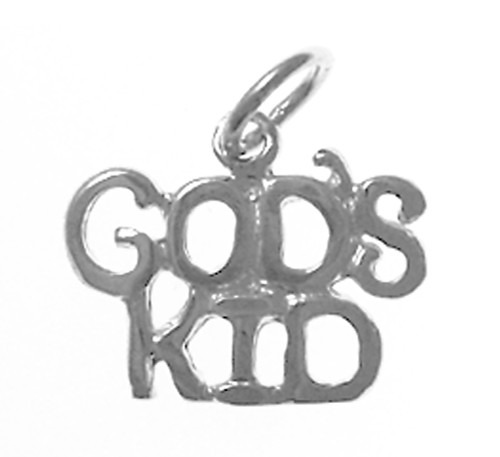 "Style #813-15, Sterling Silver, Sayings Pendant, ""GOD'S KID"""