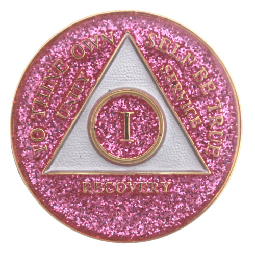 Alcoholics Anonymous Medallion Coin for those celebrating recovery anniversaries in AA