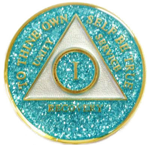 Recovery sober medallion