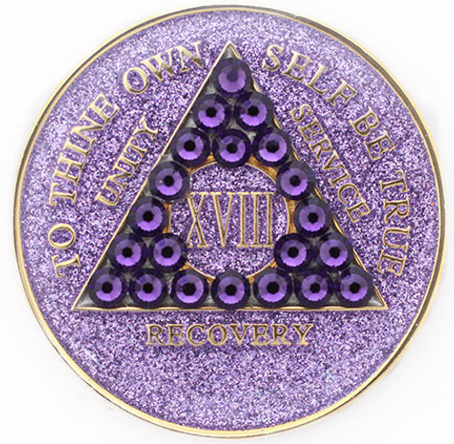 CRYSTALLIZED GLITTER TRI-PLATE PURPLE
