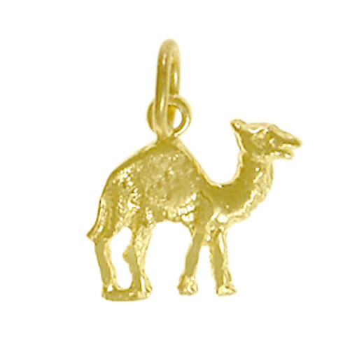 """Style #70-16, 14k Gold Pendant, Adorable Camel """"Can Go 24 Hours Without A Drink"""""""