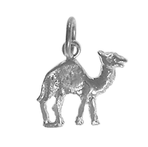 """Style #70-16, Sterling Silver Pendant, Adorable Camel """"Can Go 24 Hours Without A Drink"""""""