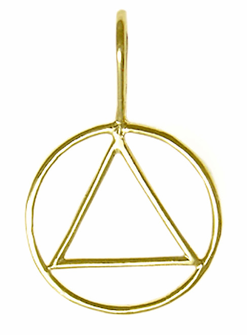 Style #387-1, Medium Size, 14k Gold Simple Wire Look Pendant