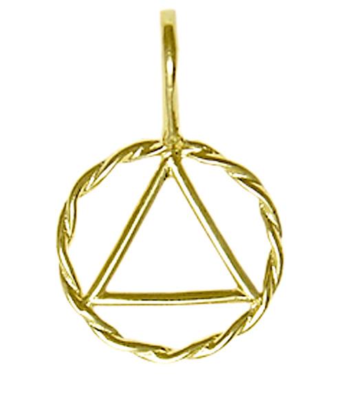 Style #390-1, Medium Size, 14k GoldTwist Wire Style Pendant