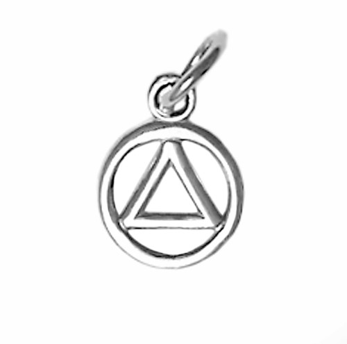 Style #49-1, Sterling Silver, Small Circle Triangle Pendant