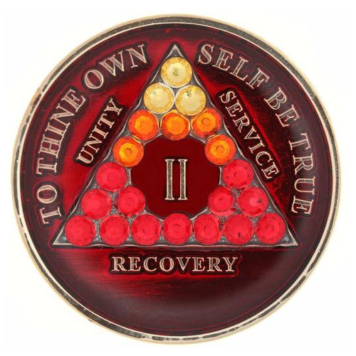 TRANSITION RED CRYSTALLIZED MEDALLION Specialty Anniversary Medallion