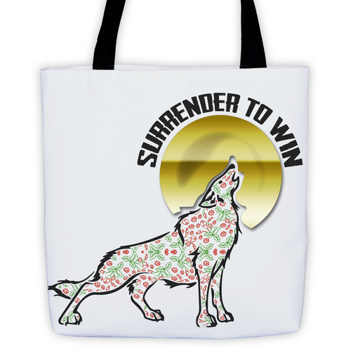 Carry your doing it sober tote bag with one of our favorite sayings, Surrender To Win.