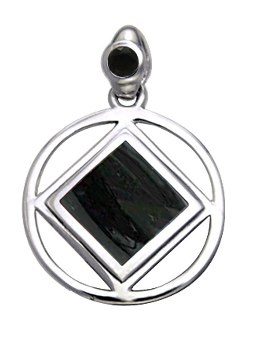 Awesome silver na pendant for the perfect gift for those in a 12 step narcotics anonymous program!