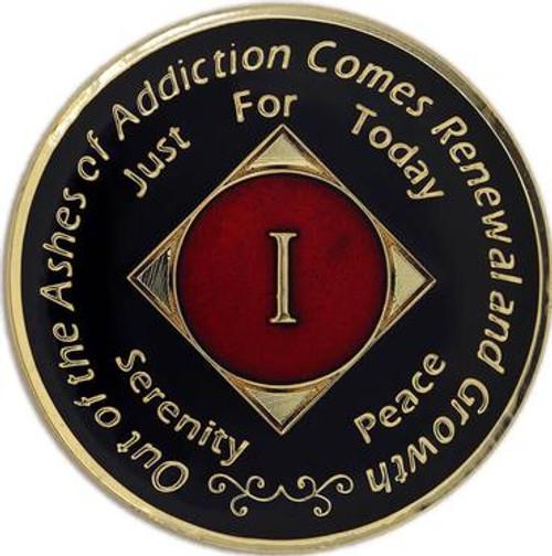 NA Medallion Black/Red (Yrs 1-40)