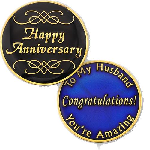 Husband Anniversary Medallion. NEW!