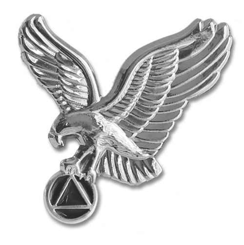 "AA Silver Eagle 1"" Lapel Pin"