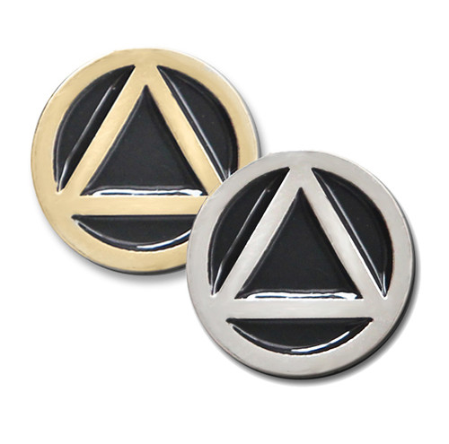 "AA Circle / Triangle 1/2"" Lapel Pin"