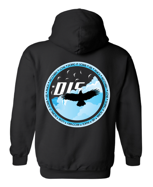 DIS Love - Peace - Recovery Fall Unisex Heavy Cotton Blend Hoodie Sweatshirt