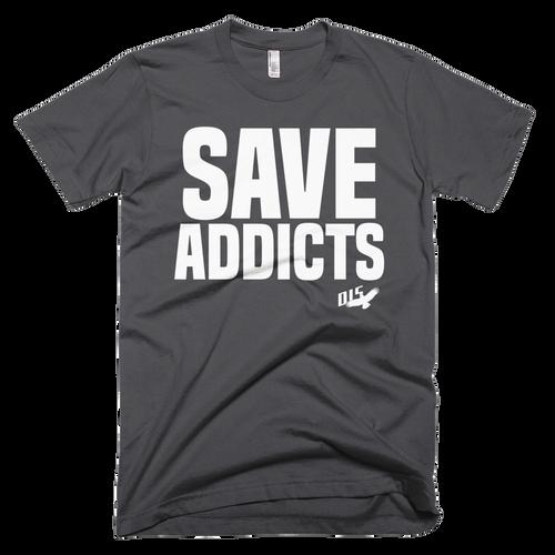 """Save Addicts"" Mens Anvil Lightweight Short Sleeve Men's T-Shirt"
