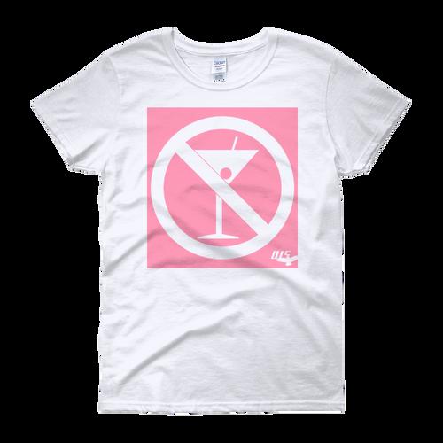 No Cocktails Please Ladies Heavy Cotton Short Sleeve T-Shirt