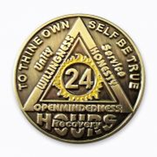 24 hours, to thine own self be true special edition coin