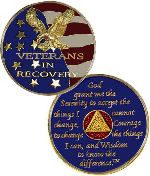 NEW! Veterans in Recovery AA Medallion AA Coin. #i20