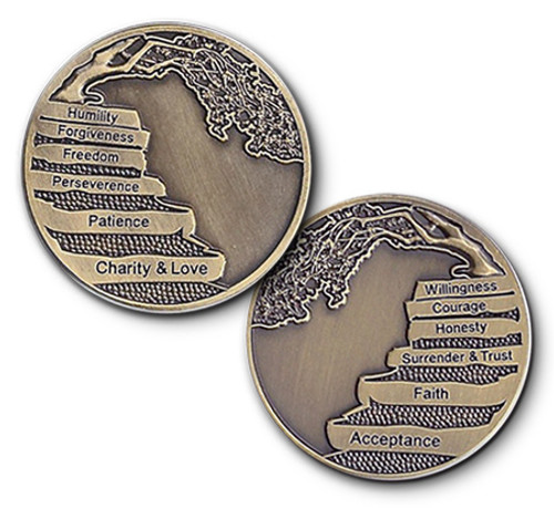 12 Step Bronze Coin