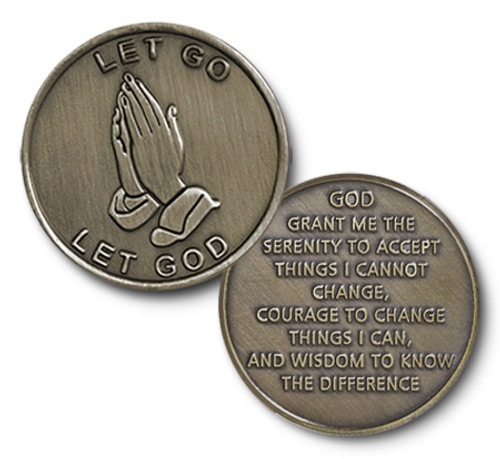 Bronze Praying Hands Coin.