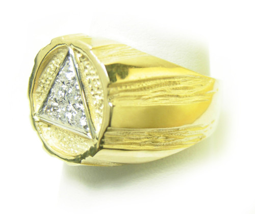 Style 607 8 14k Gold Aa Symbol Mens Signet Style Ring