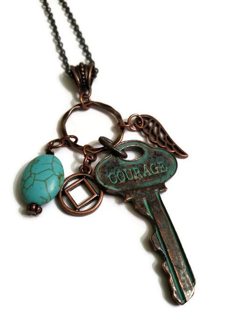 Narcotics Anonymous key of courage for the women.