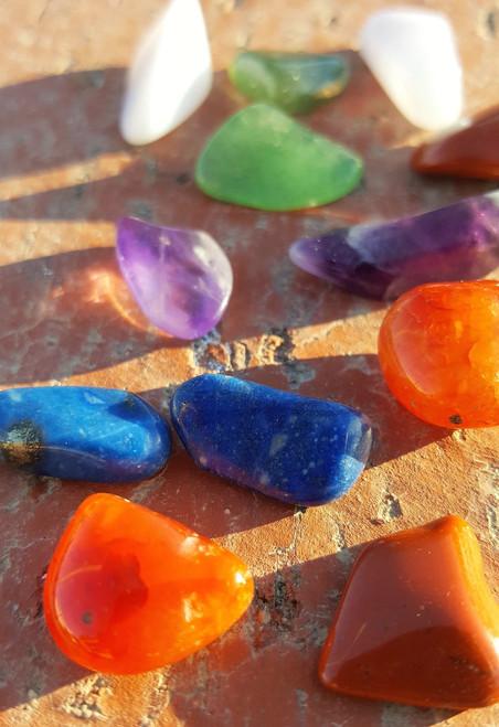 Small Size Chakra Healing Stones Starter Kit - 7 Size Small
